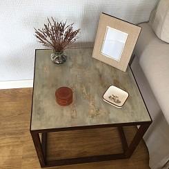 Mesa de madera pintada-1